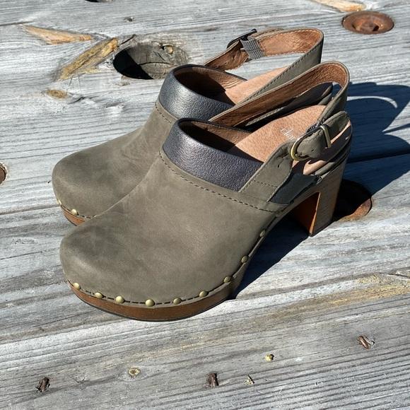 Dansko Shoes   Delle Gray Brown Leather